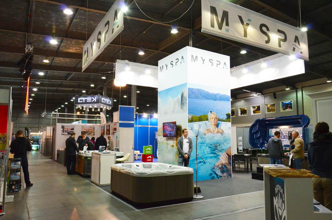 Стенд MYSPA на строительной выставке