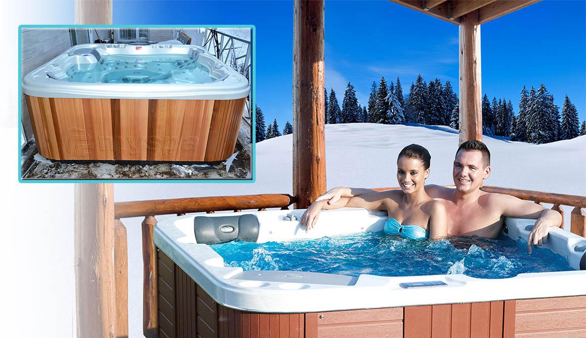 Использование джакузи Wellis зимой