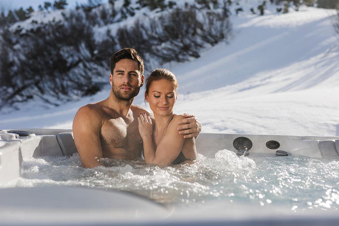 Релакс в СПА-бассейне зимой