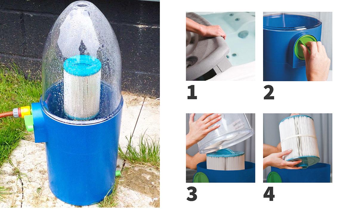 Устройство для очистки фильтр-картриджей Wellis