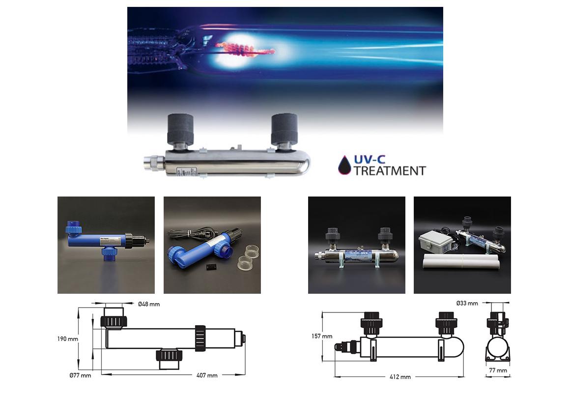 UV-C системы из пластика и нержавеющей стали