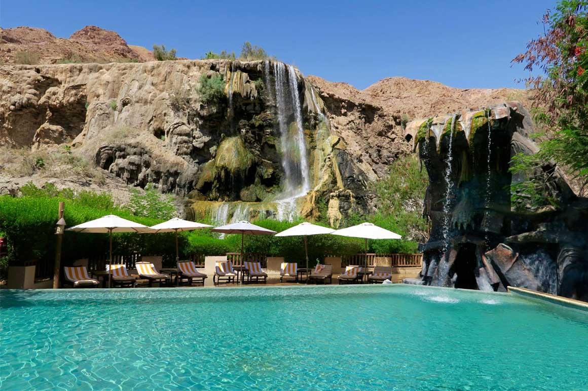Горячий водопад Хаммамат Маин, Иордания