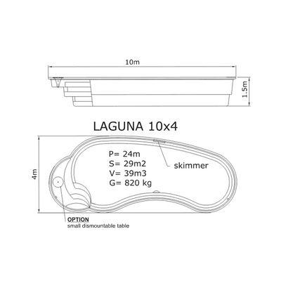 Композитный бассейн Sky Mirror Laguna - 10,0 x 4,0 x 1,5 м