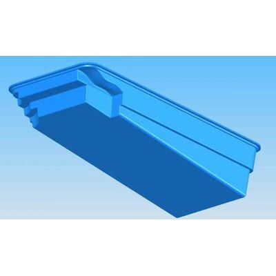 Композитный бассейн Sky Mirror Marina - 8,0 x 4,0 x 1,8 м