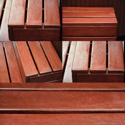 Деревянные ступени Wellis «Cherry redwood»